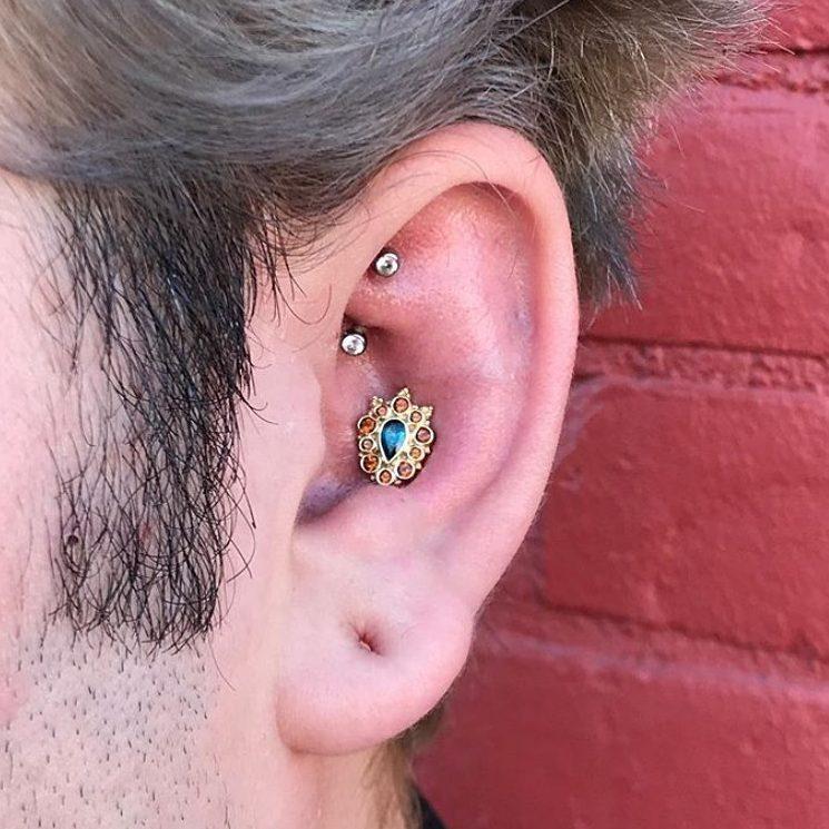 Photo of inner ear piercing