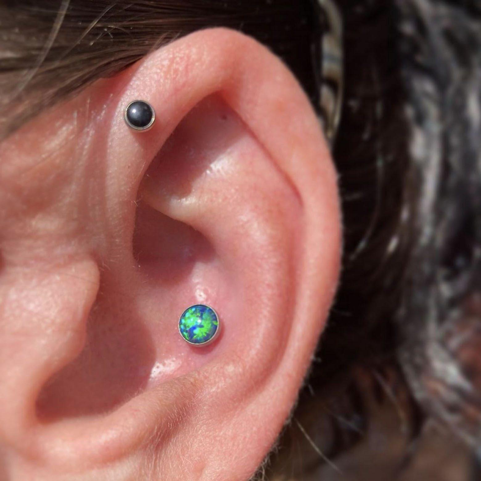 Photo of an ear piercing
